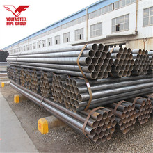 Carbon Steel Round Black Metal Pipe , Metal Tube from Tianjin Youfa Factory