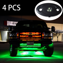 Single colour controller 9w 12-24v led truck bed rock light red green blue white yellow available for offroad ATV UTV SUV