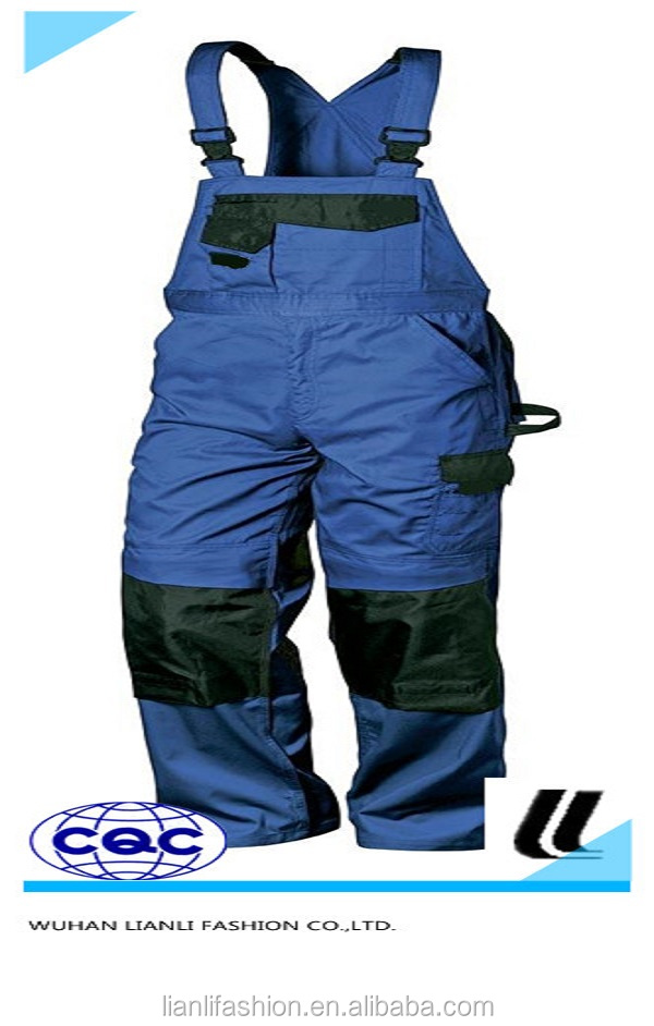 assorted colors bib work cargo pant overalls