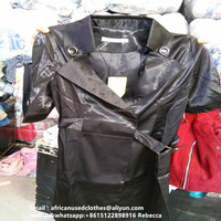 secondhand clothing /winter clothes lady leather overcoat