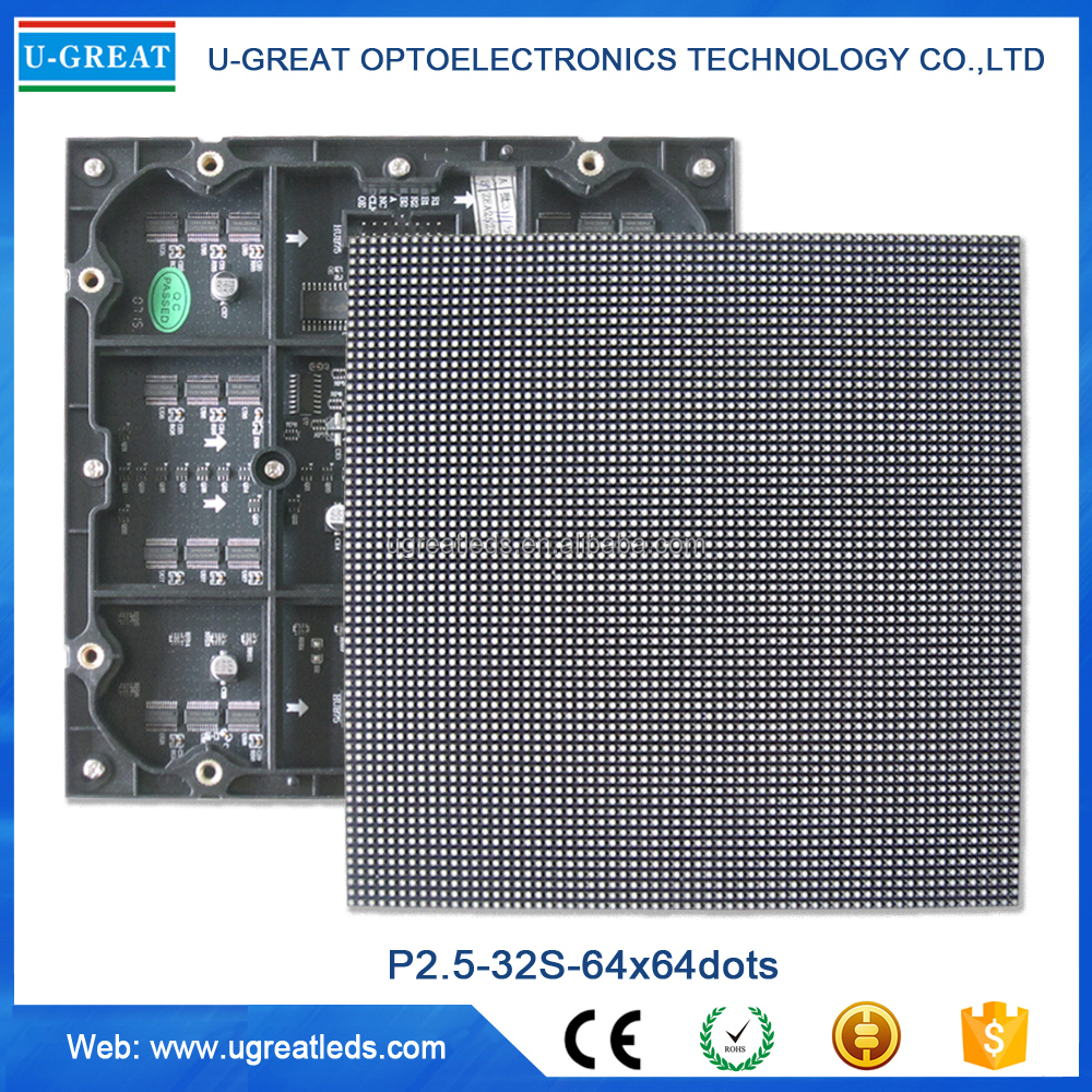 Popular Small Pixel 160x160mm Indoor P2.5 SMD Programmable LED Module