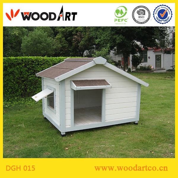 Outdoor Wooden House Type Cages for Dogs with window breeding cages for dogs