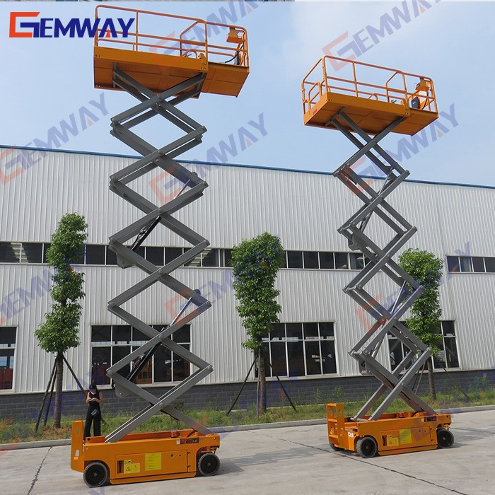 6m lift height electric mobile scissor lift for elevated aerial working platform