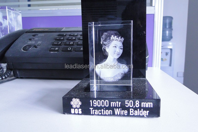 2d Laser Photo Heart Crystal Wedding Gift