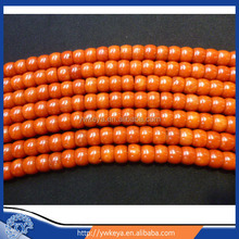 "7*10mm oil dyed non fading coral ,Sardines color Tibetan barrel coral beads,16"" natural red coral wholesale"