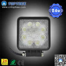 "4"" Square 24w truck headlights waterproof led auto headlight with CE ROHS"