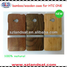 2014 hot & new products wooden case for HTC ONE M7 HBC02
