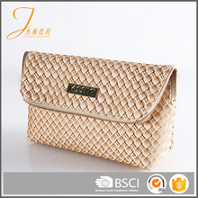 Most popular designer fancy straw imitation PU clutch bags for women