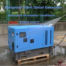 12kw or 12kva single phase silent rain proof diesel generator