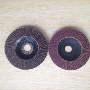 European Standard 100mm Net Back Abrasive Flap Disc for Stainless Steel Made of Sanding Cloth