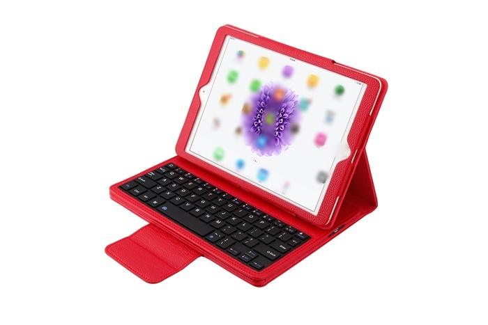 Phone accessories 64 keys english tablet wireless bluetooth pu Leather smart keyboard case cover for ipad air /air2/pro 9.7