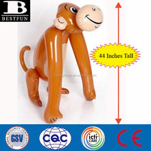 giant Inflatable Monkeys 44 Inches Tall big pvc cartoon monkey toys rubber inflatable bouncy animals