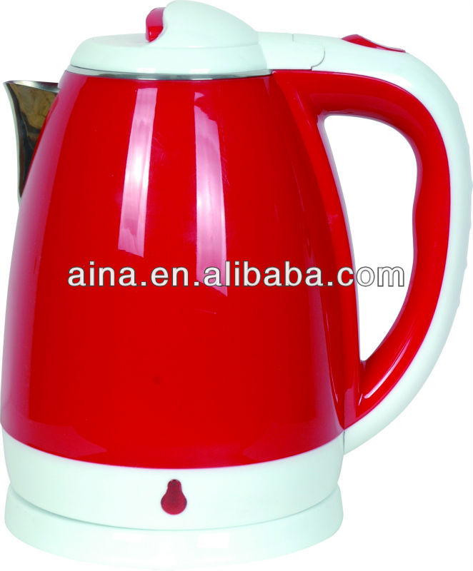 Stainless steel electric thermo kettle AN-121A red and white
