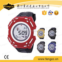 Children design custom mixed color water resist stop digital sport watch in wristwatches