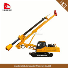 Portable oil core water well drilling rig for foundation machinery