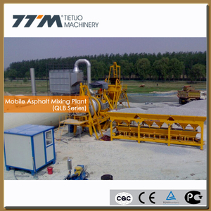 20t/h Mobile small asphalt hot mix plant, bitumen hot mix plant
