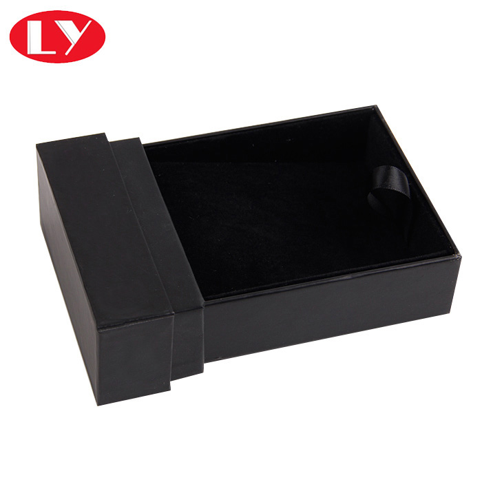 Black drawer perfume gift box