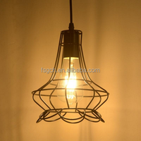 Modern Style Pendant Lamp Wrought Iron Black Chandelier Lighting Ceiling Fixture Industrial Pendant Light Without Bulb