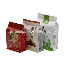 Stand up ziplock pouch food packaging PE plastic bag