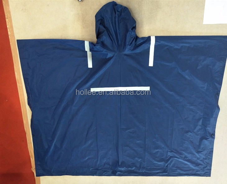 VS1020A PVC with reflective tape raincoat