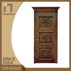 Swing Sapele Natural Color Patterns Wooden Door Exterior