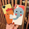 Cute animal chicken elephant Bears Cover cell phone Case for iPhone 4 4S 5 5S SE 5C 6 6S 7 Plus