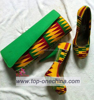 African Print Shoes and Purse/african shoes with bags/african fabrics pumps