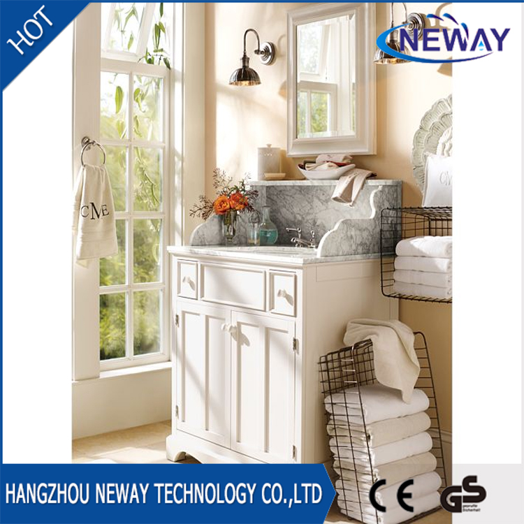 Wholesale wooden standing bathroom furniture with mirror