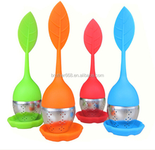 Upscale new design Silicone Straine and mesh silicone tea strainer