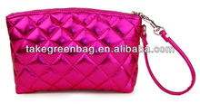 Pink lady pu cosmetic bag
