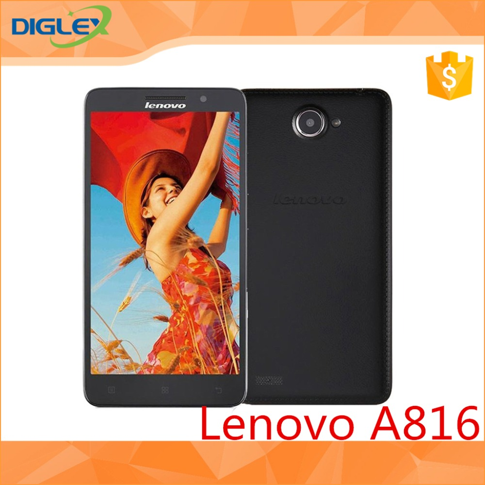 Original Lenovo A816 AQualcomm Quad Core FDD LTE 4G smart Phone .5 inch IPS 1GB RAM 8GB 8mp camera GSM/WCDMA/LTE