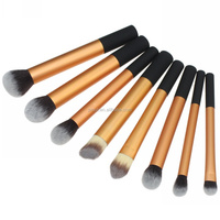 Baoli nylon hair gold handle fast supplier makeup brush set free sample for teens maquillage