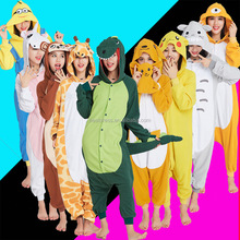 Hot Cheapest Flannel Fleece Funny Carnival Costume Adult Couple Animal Onesie