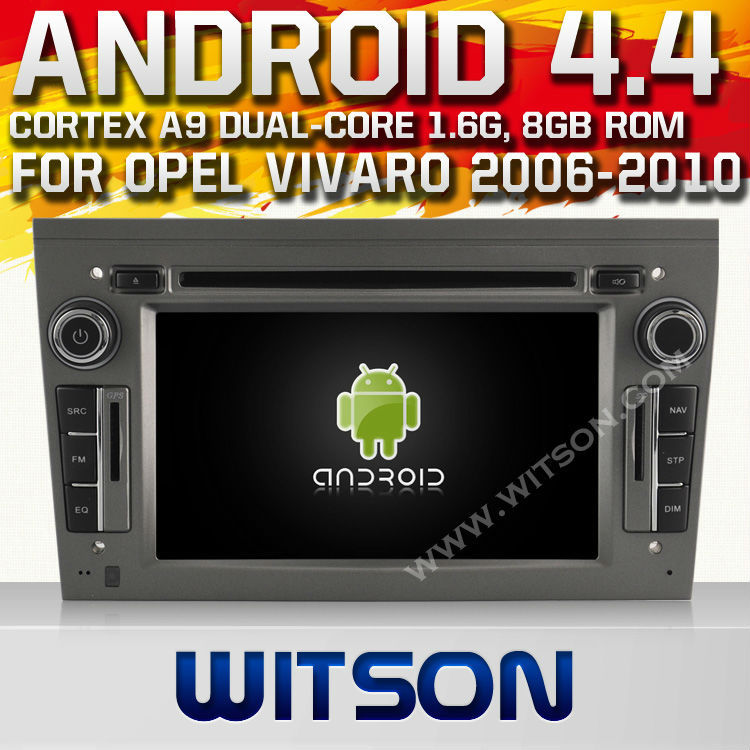 WITSON Android 4.4 car dvd for OPEL VIVARO 2006-2010 WITH CHIPSET 1080P 8G ROM WIFI 3G INTERNET DVR SUPPORT