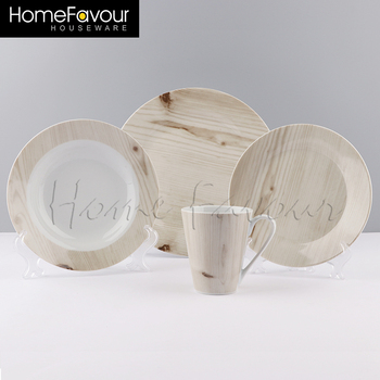 Large Production Base Supplier Durable Custom Porcelain Dinner Set Stock