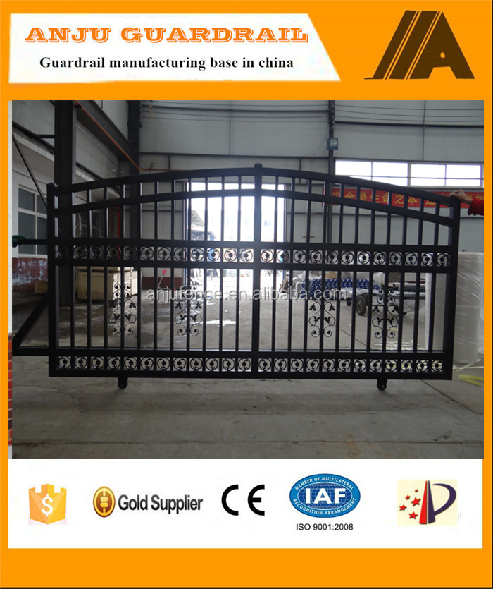 AJ-GATE009 Sliding Iron main gate designs