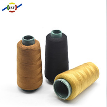 Factory OEM service 100% spun polyester yarn iridescent sewing thread for jeans