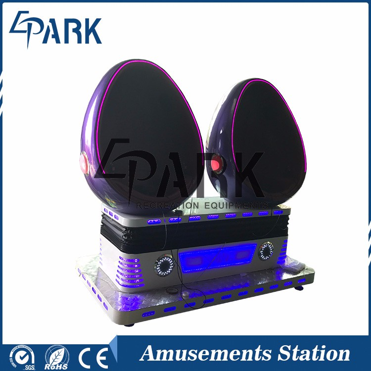 Crazy virtual reality helmet 9d vr egg chair in hot selling for amusement center