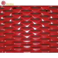 Factory Red PVDF decoration Aluminum Expanded Metal from china supplier