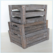 High quality vintage cheap wooden fruit crates for sale
