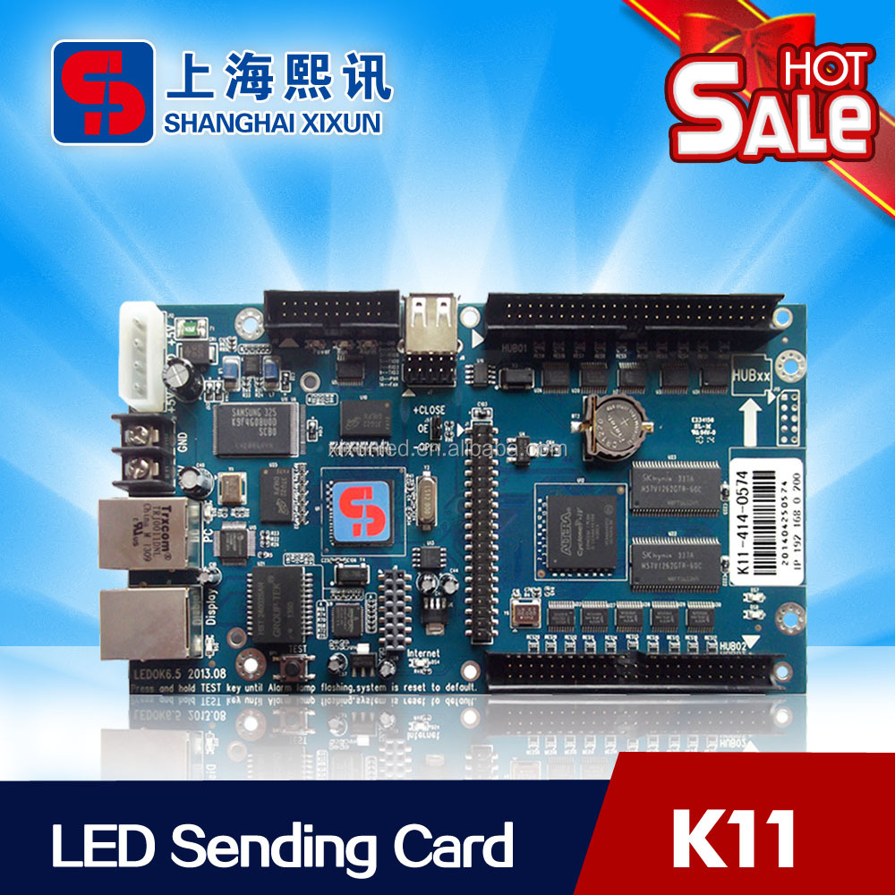 Fullcolor Outdoor LED Display Control Card System Xixun <strong>K11</strong> Rich Display Functions