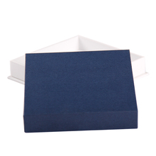 Customized navy blue cardboard empty gift boxes