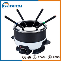 Hot sale electric 6 stainless steel fondue set
