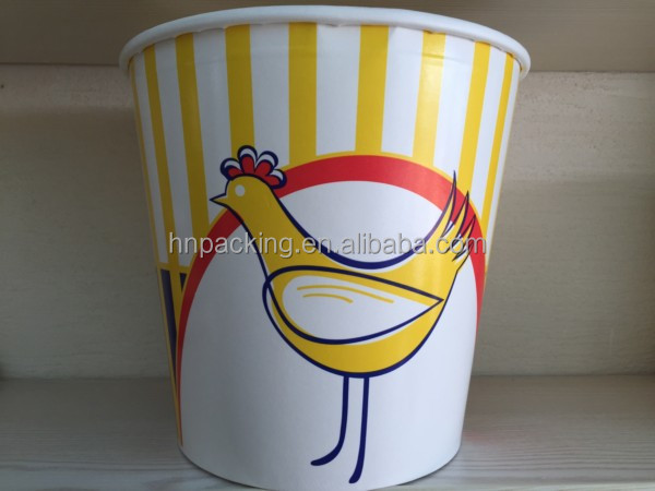 disposable takeaway food bucket for chicken nuggets