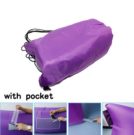 Inflatable Lounger Air Sleeping Bag, Outdoor Air Sofa Bed