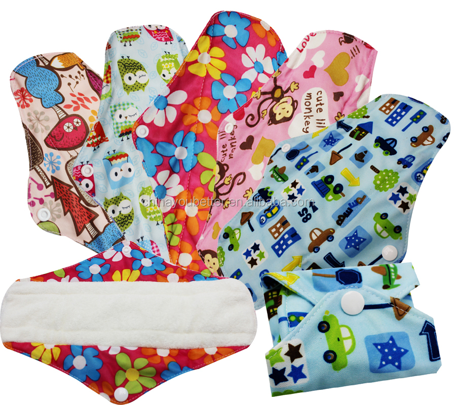 Washable Maternity Sanitary Pads Bamboo Cloth Menstrual Pads Reusable Mama Cloth Feminine Pads