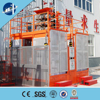 supply mid speed construction passenger hoist/ SC200/200 Building Twin Cage construction Hoist