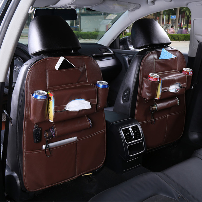 Car seat back cover bags useful trunk seat organizers