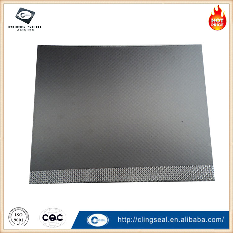 Expanded reinforced graphite composite sheet