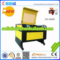 SH-G690 wood laser cutter shenhui laser cutting machine for pet tag,dog,tag,acrylic resin (want agent) 0086-15563539899